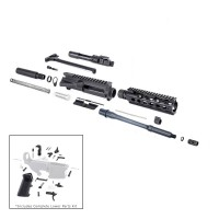 "AR-15 300 Blackout 10.5"" complete pistol kit w/10"" slim mlok rail"