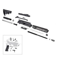 "AR-15 7.62x39 16"" complete rifle kit w/10"" slim M-Lok"