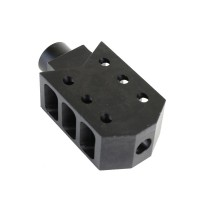 AR Rifle Barrett Style Muzzle Brake with Jam Nut, 5/8X24