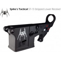 AR-15 Spikes Tactical Stripped Lower Receiver with White Spider Logo