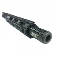 "AR-15 300 AAC BLK 10.5"" Nitro-Met Quad Upper Assembly with Socom Style Brake, Left Hand"