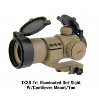 1x30 Tri. Illuminated Dot Sight with Cantilever Mount, FDE