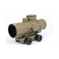 3X30 Tri-Illuminated Ultra Compact Prism Riflescope, FDE