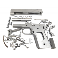 "1911 80% OFFICER BUILD KIT 3"" .45 ACP. RAMPED BARREL FRAME W/CHECKERED GRIP PARA CUT SLIDE"