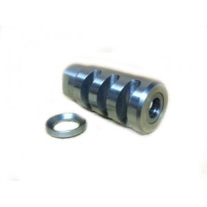 AR-15  muzzle brake 1/2-28 threads stainless steel, hand made
