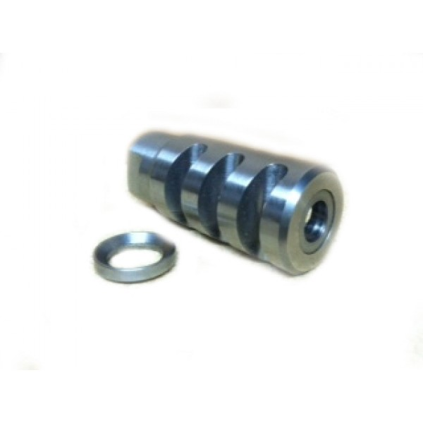 AR-15  Muzzle Brake, 1/2-28 threads, Stainless Steel, Hand Made