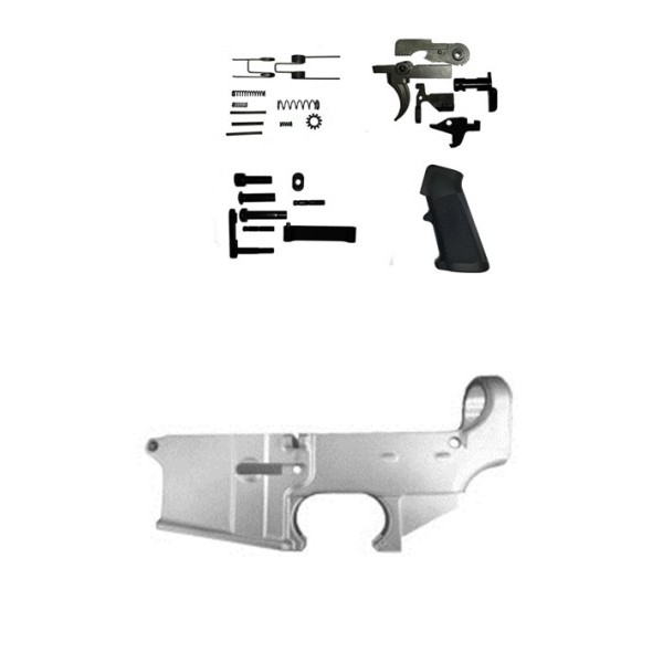 AR-15 5.56 80% lower receiver with lower parts kit, raw