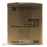 FEDERAL AE223BK .223 AMMUNITION 1,000 ROUNDS BULK PACKED